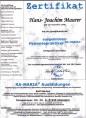 Hypnotiseur, Hans-Joachim Maurer, Hypnose Zertifikat